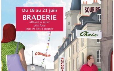 Fougères: Braderie en centre-ville au mois de juin
