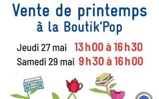 RENNES : Ventes de printemps à la Boutik'pop